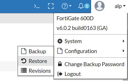 fortigate firmware downgrade