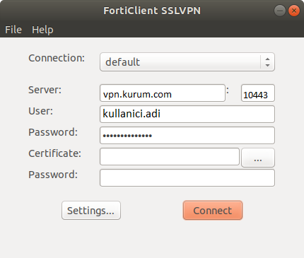 forticlient on linux